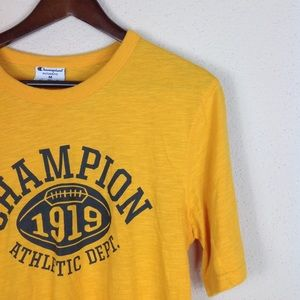 Champion Authentic Gold Graphic Athletic Tee